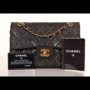 Chanel classic double flap gold cc shoulder bag
